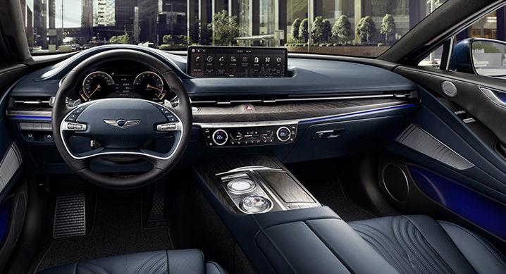 The interior of the Genesis G80 sedan