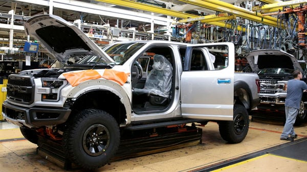 File photo of a Ford F-150 pick-up truck at the assembly line at Ford's Dearborn Truck Plant. Photo used for representational purpose only. (REUTERS)