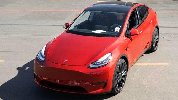 Photo of a Tesla Model Y vehicle (Photo courtesy: Twitter/@elonmusk)