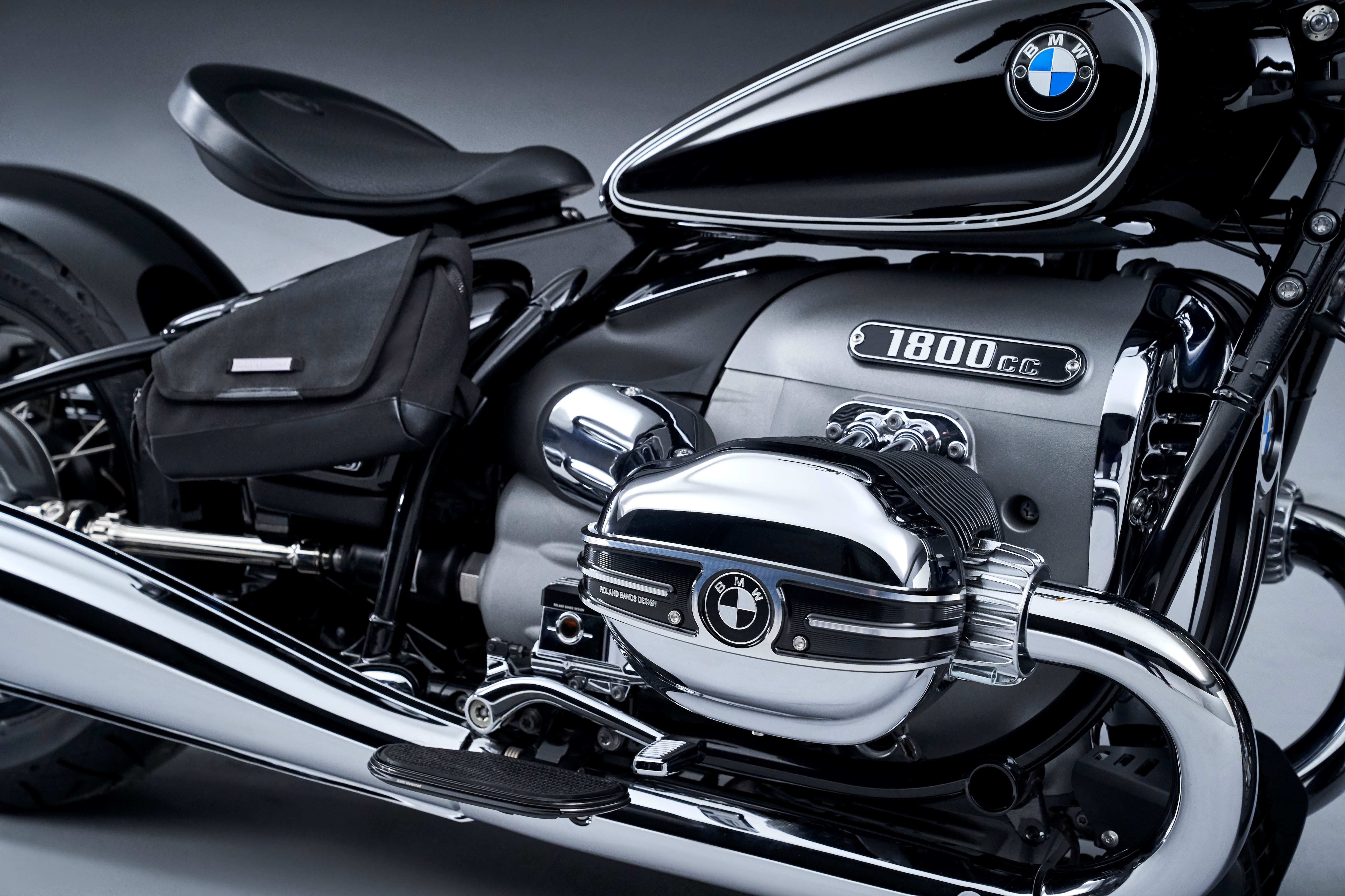 The R 18 has a cradle-type chassis which houses a 1,800 cc, two-cylinder boxer engine. The engine features a 107 mm bore and 100 mm stroke. It is claimed to be the biggest motorcycle engine developed by BMW Motorrad.