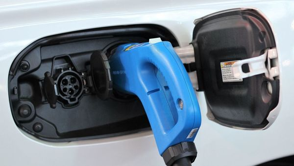 Representational image of an electric car charging.