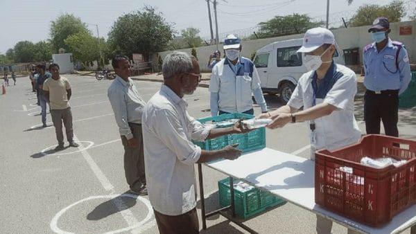 SMIPL serves food to communities in Haryana amid Covid-19 lockdown.
