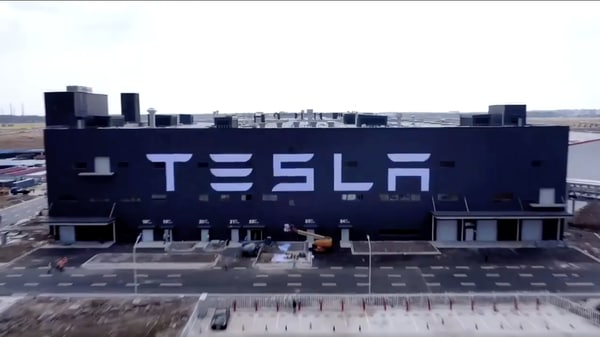 A view of the Tesla Gigafactory 3 in Shanghai. (Photo courtesy: YouTube)