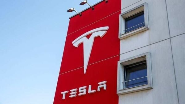 FILE PHOTO: The logo of Tesla is seen at a branch office in Bern, Switzerland March 25, 2020. REUTERS/Arnd Wiegmann (REUTERS)