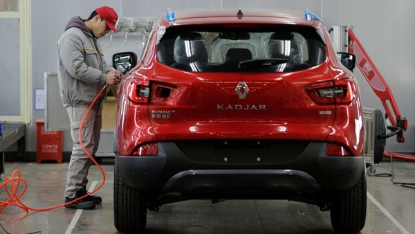 File photo: An employee works at a Renault assembly plant in Wuhan, Hubei province, China. (REUTERS)