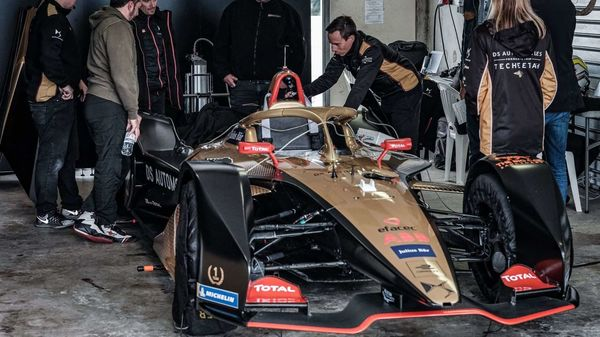 DS E-Tense FE20 of DS Techeetah, the Chinese-owned team of PSA Group's DS Automobiles, won last year's Formula E. Photo courtesy: @DSTECHEETAH