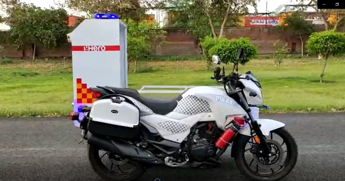 These mobile ambulances have been custom-built around the Hero Xtreme 200R motorcycle.