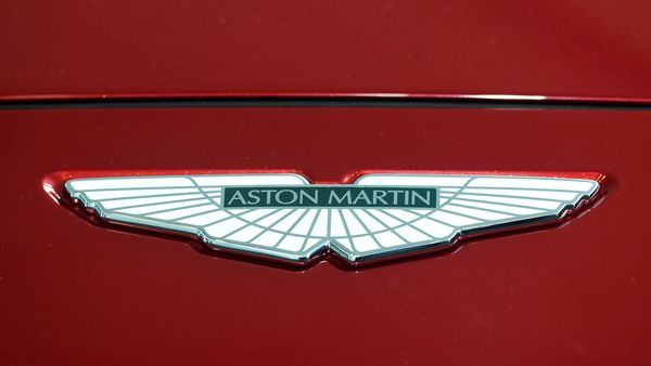 File photo: A logo on the new Aston Martin DBX. (REUTERS)