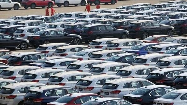 Newly manufactured cars are seen at a port in Dalian, Liaoning province, China April 10, 2020. China Daily via REUTERS (REUTERS)