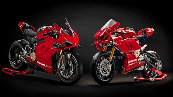 Ducati has partnered with the LEGO Group to make available its Panigale V4 R as a Lego set.