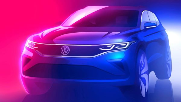 Volkswagen teased the image of the new Tiguan SUV