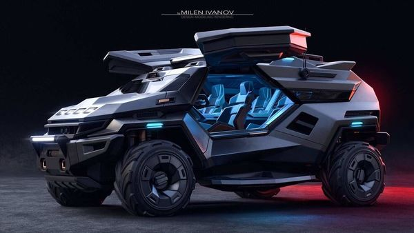 According to reports the Armortruck SUV will be made of steel, titanium, Kevlar and carbon fibre. (Photo courtesy: artstation.com)