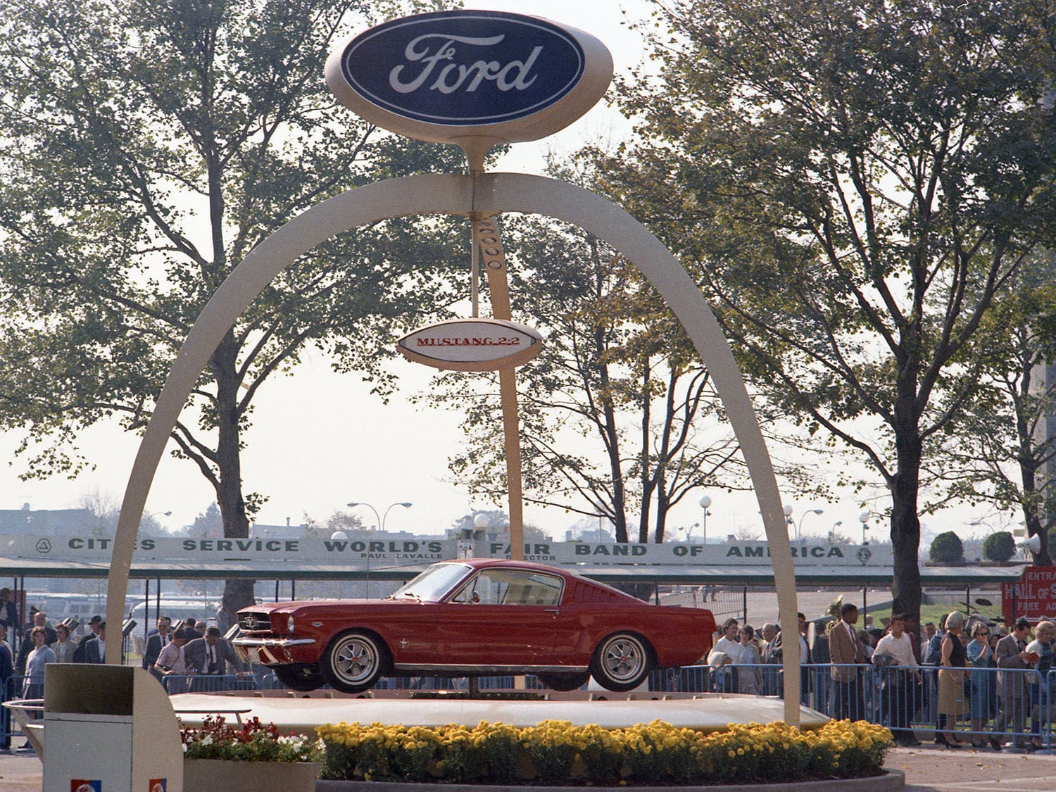 Ford Mustang celebrated its 56th birthday on April 17. What could be a better gift than to celebrate it with another year on top on the 56th Mustang Day. (Mustang at the 1964 New York World's Fair)