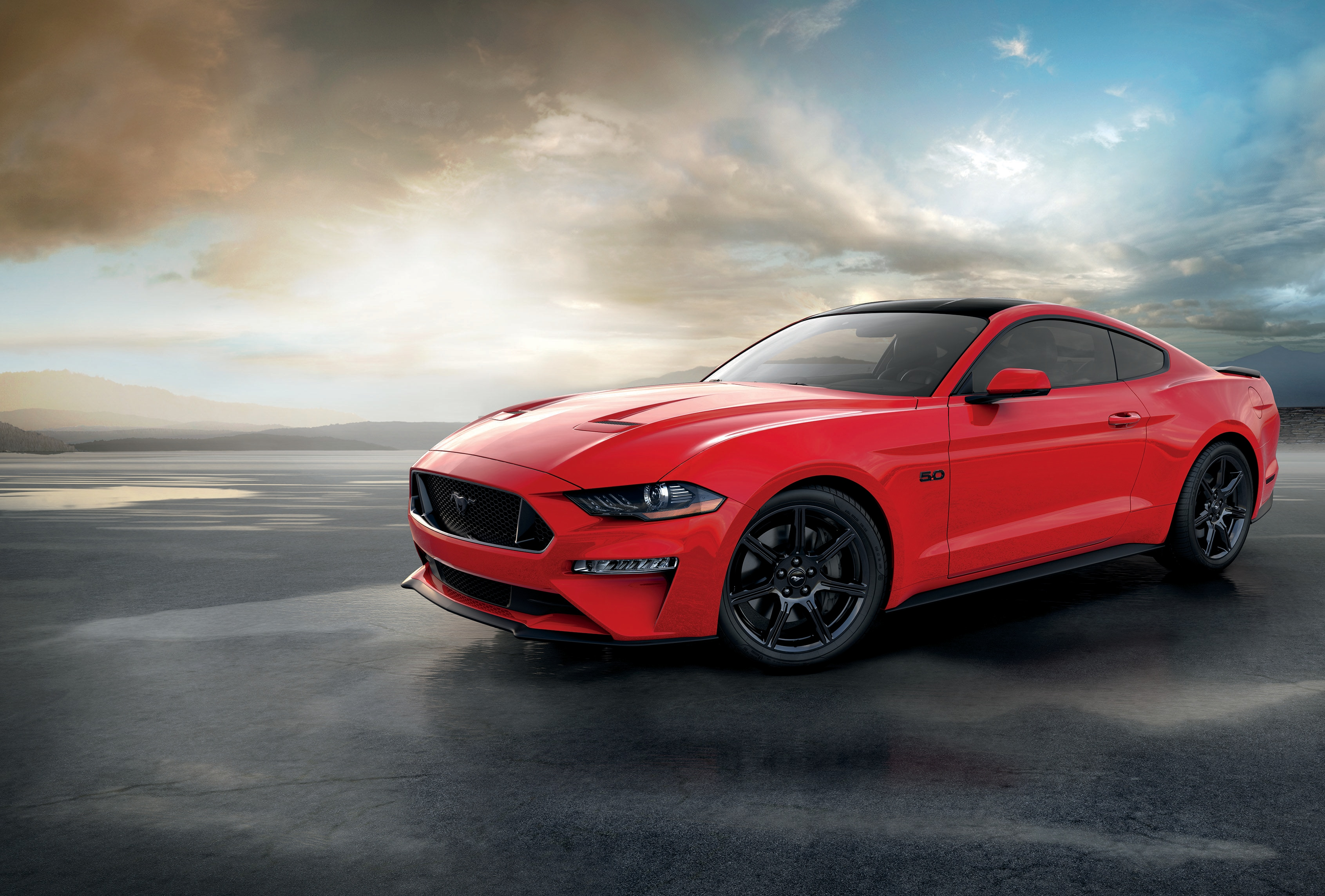 The year 2019 also marks the fifth consecutive year that Mustang was the best-selling sports coupe in the world. (2018 Ruby Red Mustang GT Coupe)