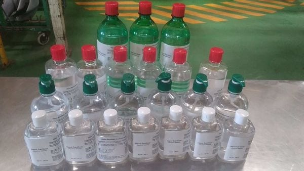 Production of sanitisers is going on at Hero's bike manufacturing facilities.