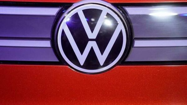 A Volkswagen logo is seen at a construction completion event of SAIC Volkswagen MEB electric vehicle plant in Shanghai, China November 8, 2019. REUTERS/Aly Song/Files (REUTERS)