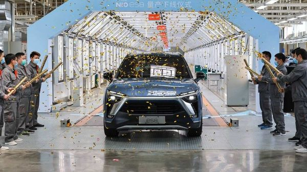 The new NIO ES8 will continue to be powered by two electric motors - a 160 kW permanent magnet motor and a 240 kW induction motor. (Photo courtesy: Twitter/@NIOGlobal)