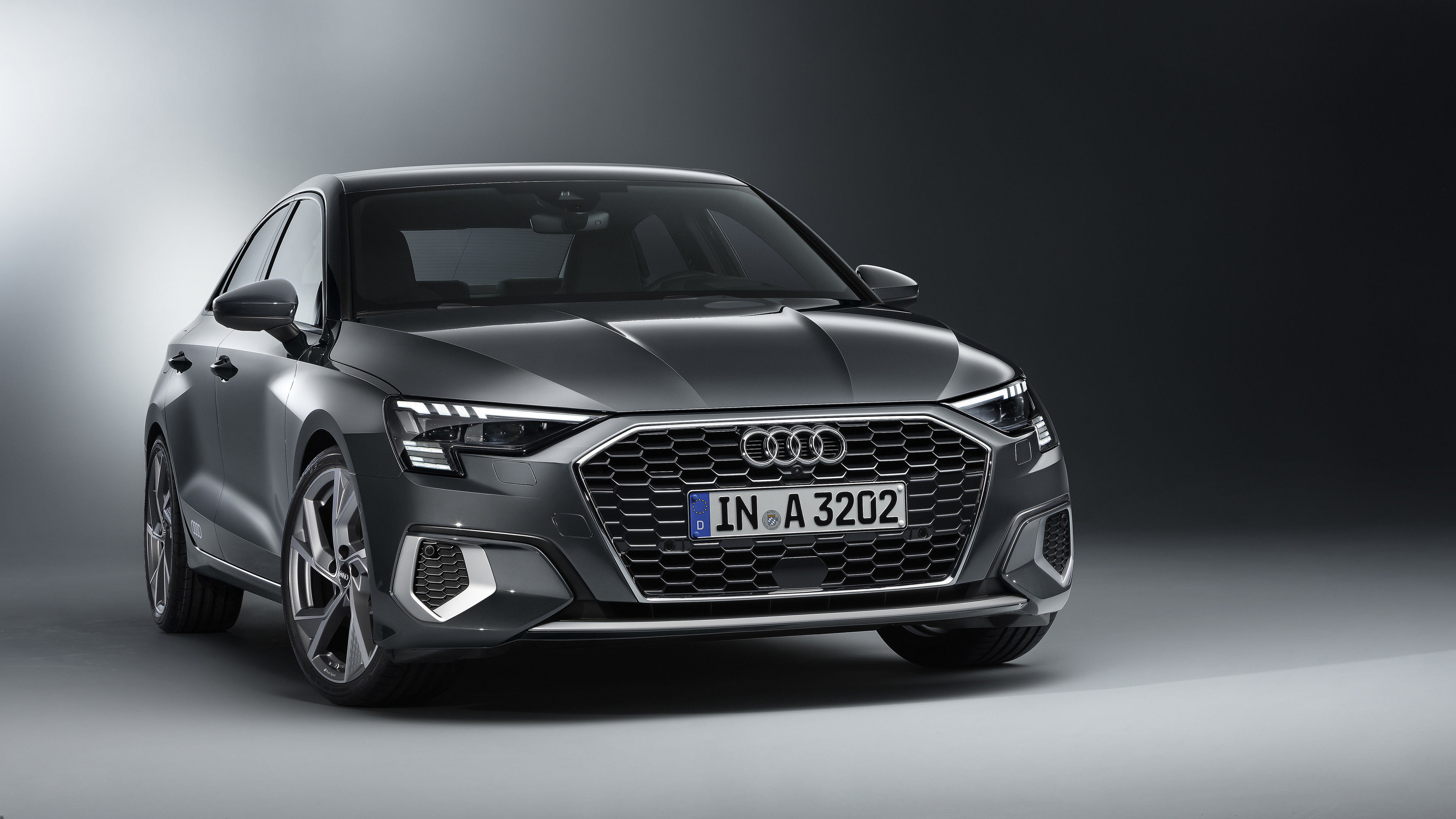 The new A3 looks inspired by the A3 Sportback. It gets a recognisable front with a large single-frame grille and sharply drawn headlights in the top model with Matrix LED technology.
