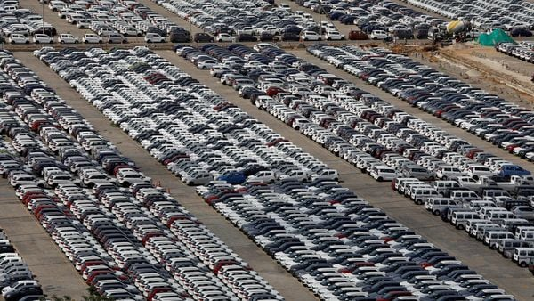 FILE PHOTO: Cars are seen parked at Maruti Suzuki's plant at Manesar, in Haryana on August 11, 2019. (REUTERS)