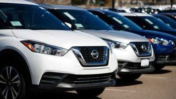 Nissan cars parked in a dealer backyard (Image used for representational purpose). (AP)