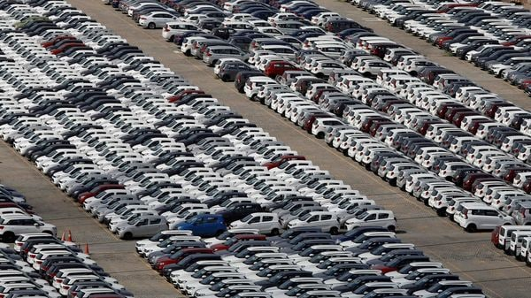 FILE PHOTO: Cars are seen parked at Maruti Suzuki's plant at Manesar, in Haryana on August 11, 2019. (Representational Image) (REUTERS)