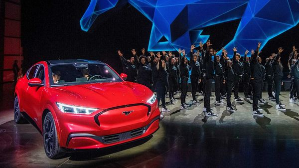 File photo: Ford reveals its first mass-market electric car the Mustang Mach-E. (AFP)