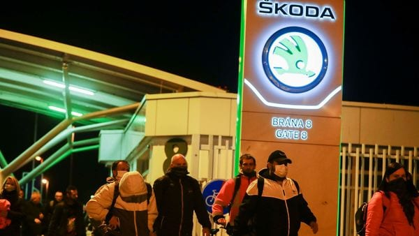 A representational image of workers leaving Skoda Auto factory. (REUTERS)
