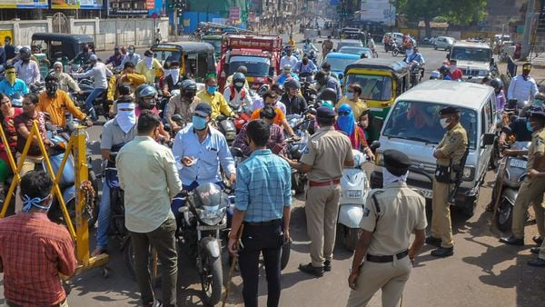Gujarat police seized 10,488 vehicles flouting lockdown norms across the state only on Saturday. (File photo) (PTI)