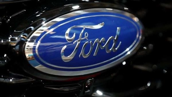 Ford logo is pictured at the 2019 Frankfurt Motor Show (IAA) in Frankfurt, Germany September 10, 2019. REUTERS/Wolfgang Rattay/Files (REUTERS)