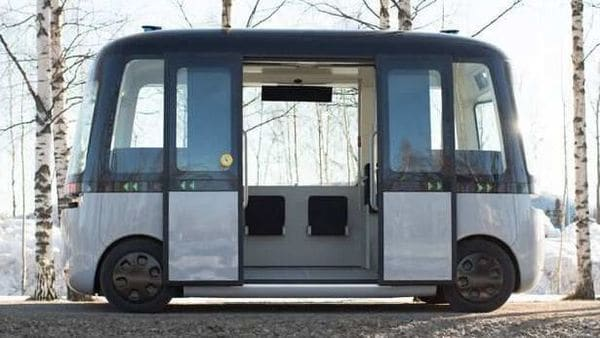 GACHA is the World's first self-driving shuttle bus for all weather conditions. (Photo courtesy: Sensible 4)