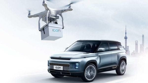 Geely said it will use drones to deliver car keys to customers for contactless buying. (Photo courtesy: Geely)