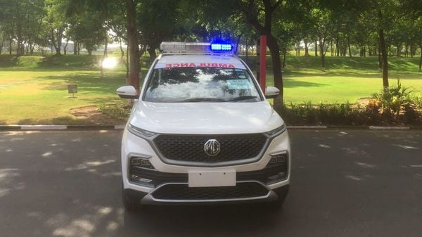 The Hector SUV was retrofitted as an ambulance in 10 days.