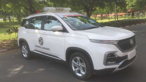 MG Motor India has retrofitted a Hector SUV as an ambulance and has donated the vehicle to healthcare authorities in Gujarat's Vadodara.