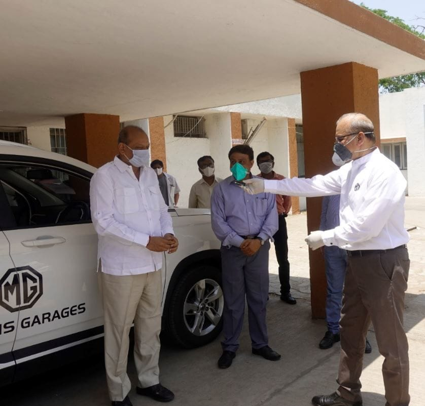 The SUV can be put into service immediately and the process of retrofitting it was done on priority within 10 days because of an urgent need for support from officials in Vadodara.
