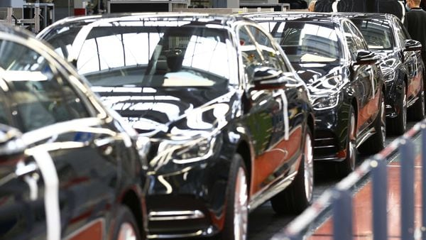Japanese automakers have taken a big hit to sales, with their global vehicle sales dropping 34% in March. (File photo used for representational purpose). (Bloomberg)