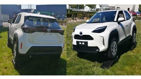 Toyota Yaris Cross Rear (left) and Front (right) fascia snapped in first-ever real-life images. Image Credits: minkara.carview.co.jp