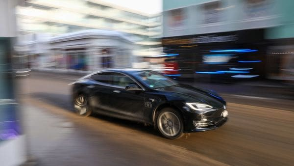 A Tesla Model S electric car (Bloomberg)
