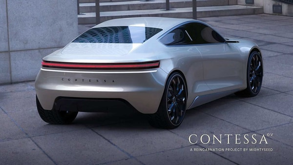 A Kerala-based company has re-imagined Hindustan Motors' iconic Contessa as an electric vehicle concept. (Photo courtesy: Mightyseed Designs)