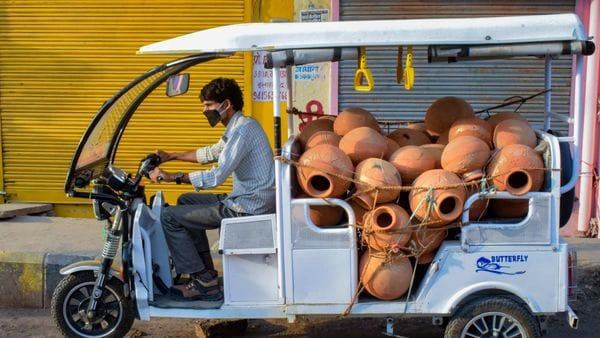 The para-transit vehicles also include auto rickshaws, taxis, Gramin Sew, Eco Sewa, Phatphat Sewa vehicles of last mile connectivity. (File photo used for representational purpose only). (PTI)