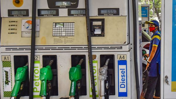 Petrol price in the national capital was hiked by ₹1.67 a litre on Tuesday and diesel by a steep ₹7.10 per litre. (File photo used for representational purpose only) (PTI)