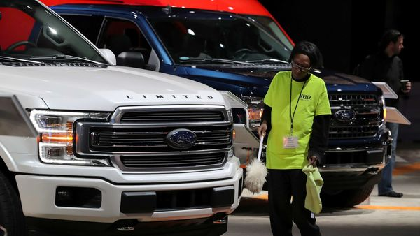 A Ford F-150 Limited pickup truck on display in Detroit. (File photo) (REUTERS)