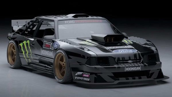 Ken Block modified the under-loved Ford Mustang, a concept he has nicknamed Hoonifox. (Photo courtesy: Twitter/@kblock43)