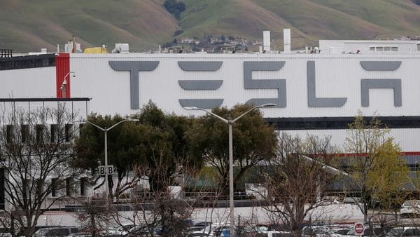 FILE PHOTO: A view of Tesla Inc's U.S. vehicle factory in Fremont, California, U.S., (REUTERS)