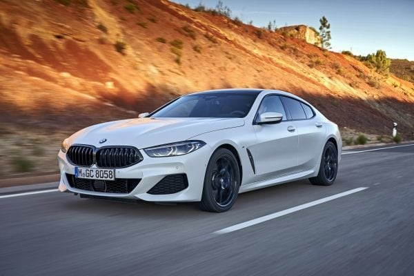 The price of the BMW 840i Gran Coupe starts at <span class='webrupee'>₹</span>1,29,90,000 and goes up to <span class='webrupee'>₹</span>1,55,00,000 for the M Sport variant.