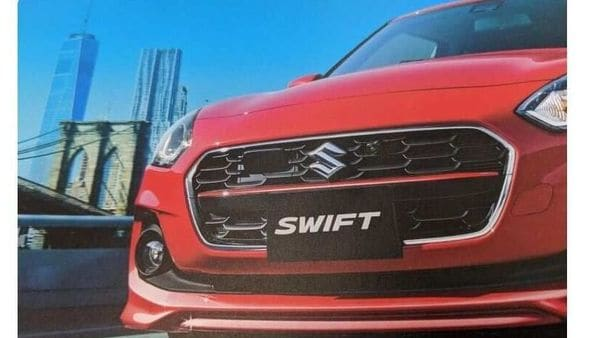 2020 Suzuki Swift facelift has a different pattern on the front main grille. Image Courtesy: @zc83s_RS/ Twitter