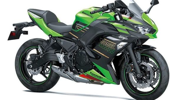 The updated Ninja 650 is available in Lime Green/Ebony and Pearl Flat Stardust White / Metallic Flat Spark Black colour options.