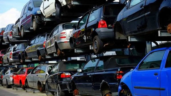 Parts of a vehicle being scrapped can be recycled at manufacturing facilities for new cars.