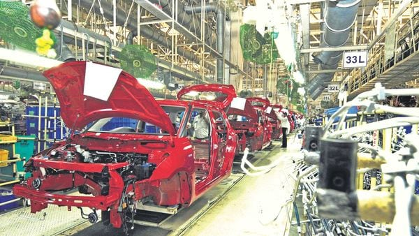 The Indian auto industry that is trying to emerge from the setback of the coronavirus pandemic and a slowdown that hit the industry since last year. (MINT_PRINT)
