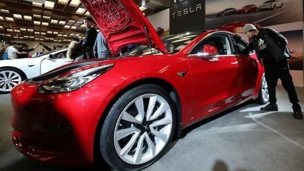 The Tesla Model 3 owner used the app to turn off the ignition key and lock up the suspect inside the car. (File photo) (REUTERS)