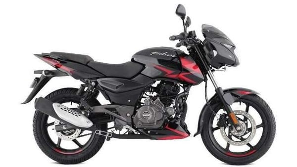 The Black/Red colour option on BS 6 Bajaj Pulsar 150 Twin-Disc.